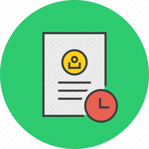 account, details, expiry, profile, timesensitivedocument, user icon
