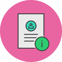 about, account, details, document, info, profile, user icon