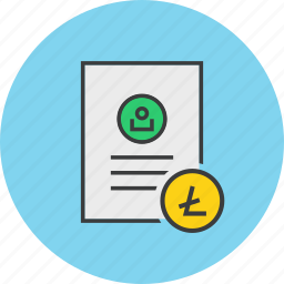customer, details, document, litecoin, profile, shopping, user icon