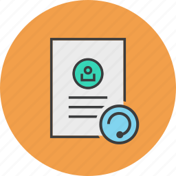account, details, document, profile, refresh, update, user icon