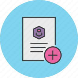 account, add, create, details, document, profile, user icon