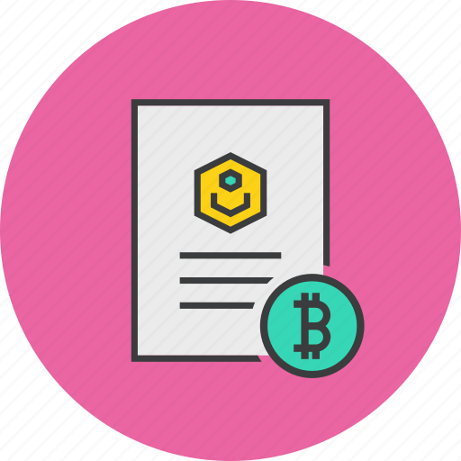 account, bitcoin, document, ecommerce, profile, shopping, user details icon