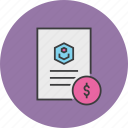 account statement, banking, document, dollar, report, trade, user icon
