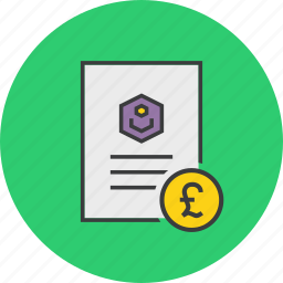 account statement, banking, business, document, pound, report, user icon