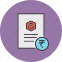 account statement, banking, business, document, report, rupee, user icon