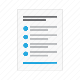 content, copyright, document, information, list, page, sheet icon