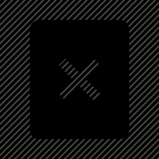 close, delete, document, file, no, remove icon