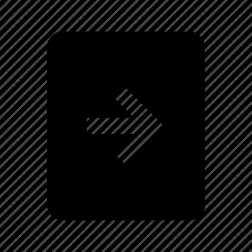 document, file, forward, next icon
