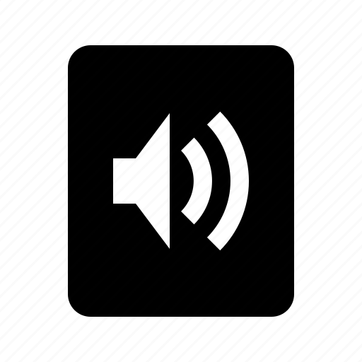 audio, document, file, sound, volume icon