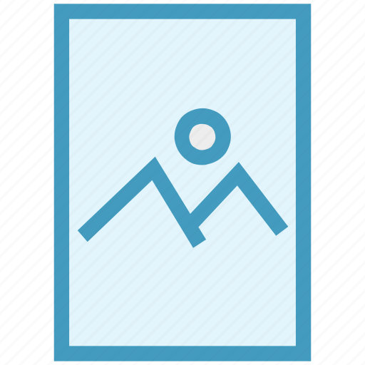 document, file, image, landscape, page, paper icon