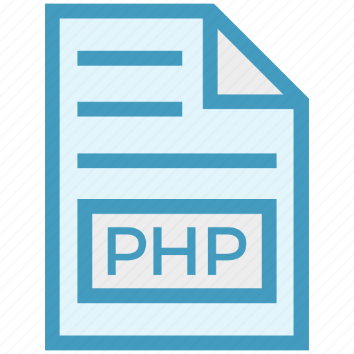 document, document list, extension, file, format, page, php icon