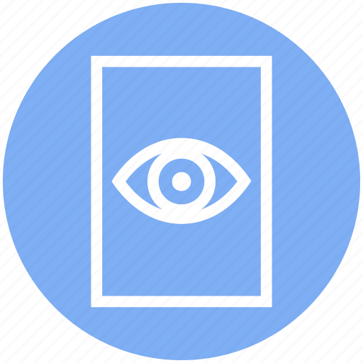 document, eye, file, page, paper, view, watch icon
