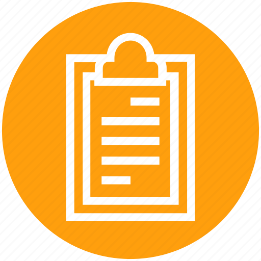 Clipboard, document, document list, file, page, sheet, text icon - Download on Iconfinder