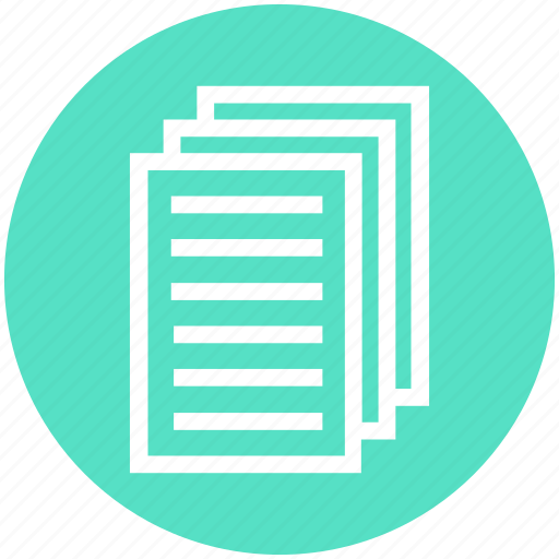Document lists, documents, files, pages, papers, texts icon - Download on Iconfinder