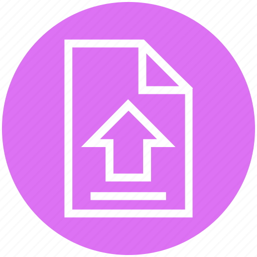 Arrow, document, file, page, send file, up arrow, upload icon - Download on Iconfinder