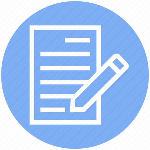 Document, document list, file, page, paper, pencil, write icon - Download on Iconfinder