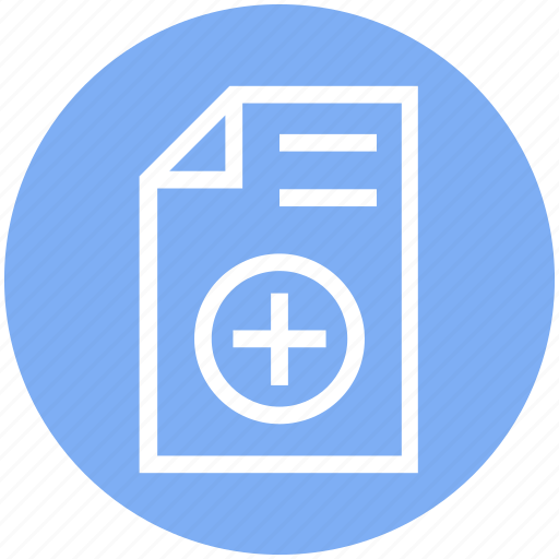 Document, document list, file, page, paper, plus, text icon - Download on Iconfinder