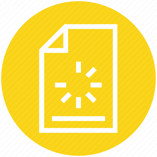 document, document file, file, loading, page, paper, sync file icon