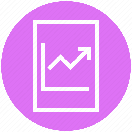 arrow, chart, document, file, page, report, statistics icon
