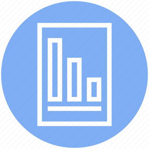Chart, diagram, document, file, graph, page, report icon - Download on Iconfinder
