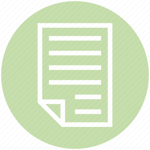 Document, document list, file, page, paper, text icon - Download on Iconfinder