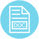 doc, document, document list, extension, file, format, page icon