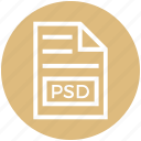 document, document list, extension, file, format, page, psd icon