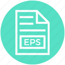 document, document list, eps, extension, file, format, page icon