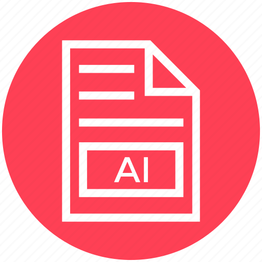 Ai, document, document list, extension, file, format, page icon - Download on Iconfinder
