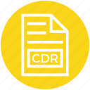 cdr, document, document list, extension, file, format, page icon