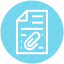 clip, document, document list, file, page, paper, text icon