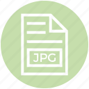 document, document list, extension, file, format, jpg, page icon