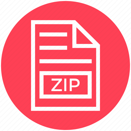 Document, document list, extension, file, format, page, zip icon - Download on Iconfinder