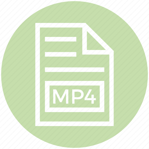 Document, document list, extension, file, format, mp4, page icon - Download on Iconfinder