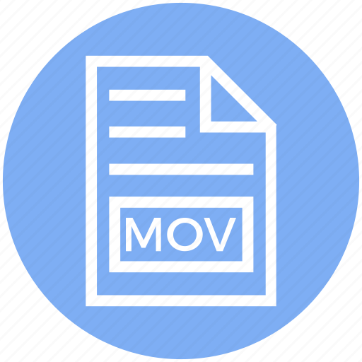 Document, document list, extension, file, format, mov, page icon - Download on Iconfinder
