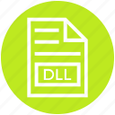 dll, document, document list, extension, file, format, page icon