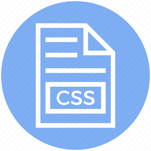css, document, document list, extension, file, format, page icon