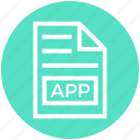 app, document, document list, extension, file, format, page icon