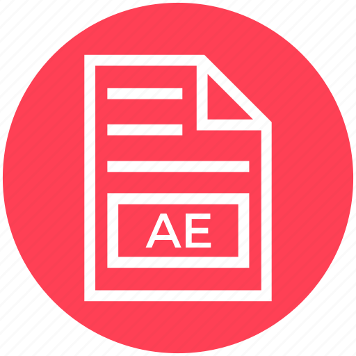 Ae, document, document list, extension, file, format, page icon - Download on Iconfinder