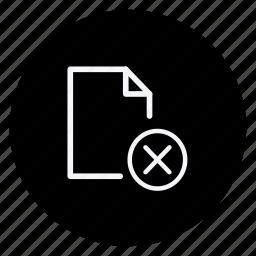 archive, cross, data, document, file, folder, storage icon