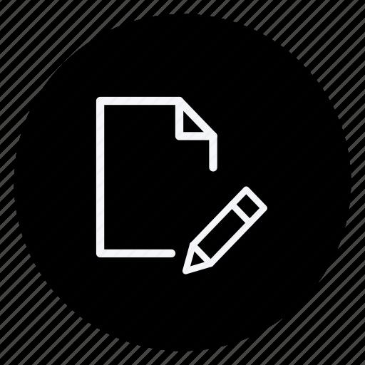 archive, data, document, file, folder, pen, storage icon
