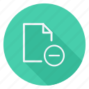 archive, data, document, file, folder, minus, storage icon