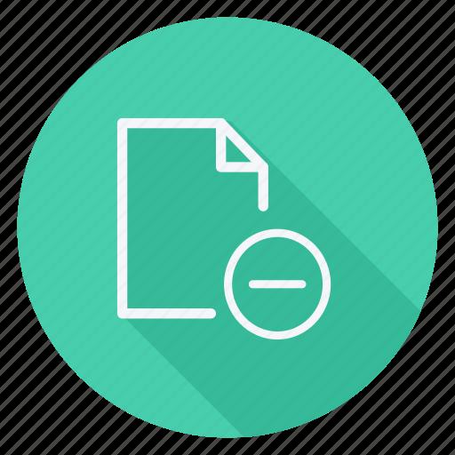 archive, data, document, file, folder, minus, storage icon