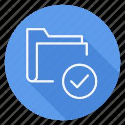 archive, check, data, document, file, folder, storage icon