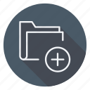 archive, data, document, file, folder, plus, storage icon