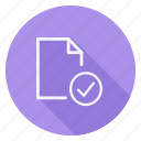 archive, check, data, document, file, folder, storage icon