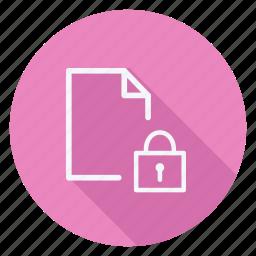 archive, data, document, file, folder, lock, storage icon