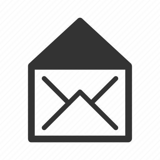 communication, email, envelope, letter, mail, opened icon