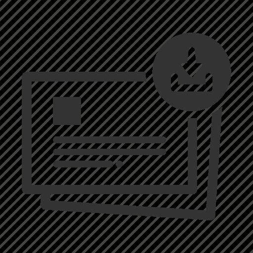 download files letter online presentation slides slideshow icon