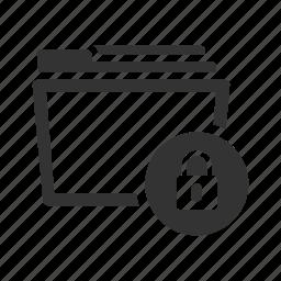 documents, envelope, folder, locked, protection, safe, secure icon